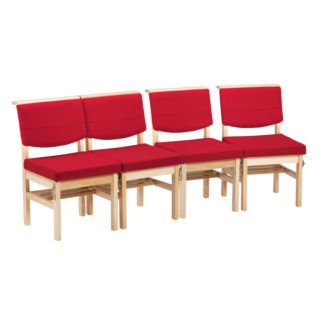 Wooden Chapel and Church Upholstered Bench Chair | Church Chairs | A1B