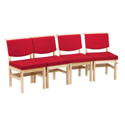 Wooden Chapel and Church Upholstered Bench Chair | Church Chairs | A1BS