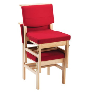 Stacking Wooden Chapel and Church Upholstered Bench Chair | Church Chairs | A1BS