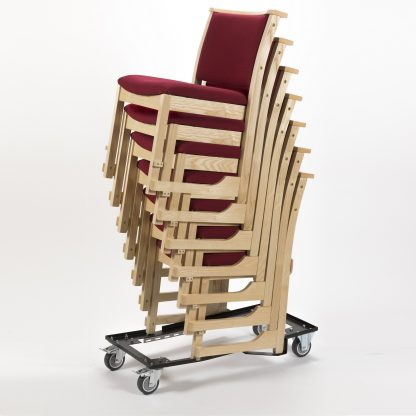 High Stacking Traditional Chapel and Church Upholstered Chair | Trolleys and Dolleys | ODH