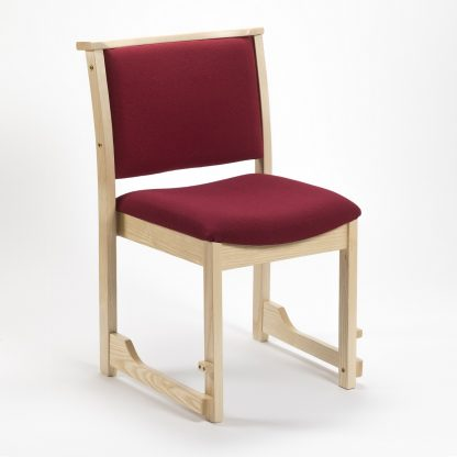High Stacking Traditional Chapel and Church Upholstered Chair | Wooden Church Chairs | A1H