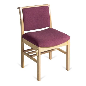 Comfortable Wooden Upholstered Chapel and Church Chair | Chapel Chairs | A1LE