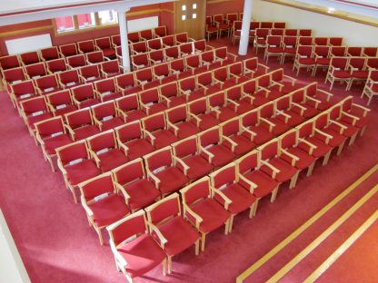 Comfortable Stacking Wooden Upholstered Chapel and Church Chair | Chapel Chairs | A1LE