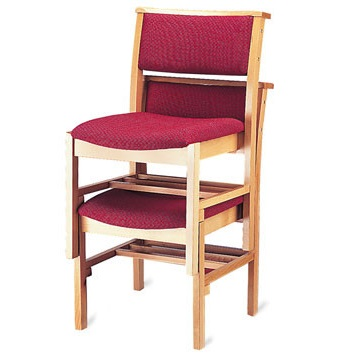 Stacking Classic Wooden Chapel and Church Chair | Wooden Stacking Chairs | A1LS