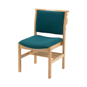 Comfortable Stacking Wooden Upholstered Chapel and Church Chair from Alpha Furnishing