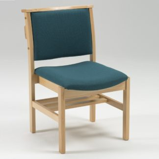 Comfortable Stacking Wooden Upholstered Chapel and Church Chair | Wooden Church Chairs | A1LSE