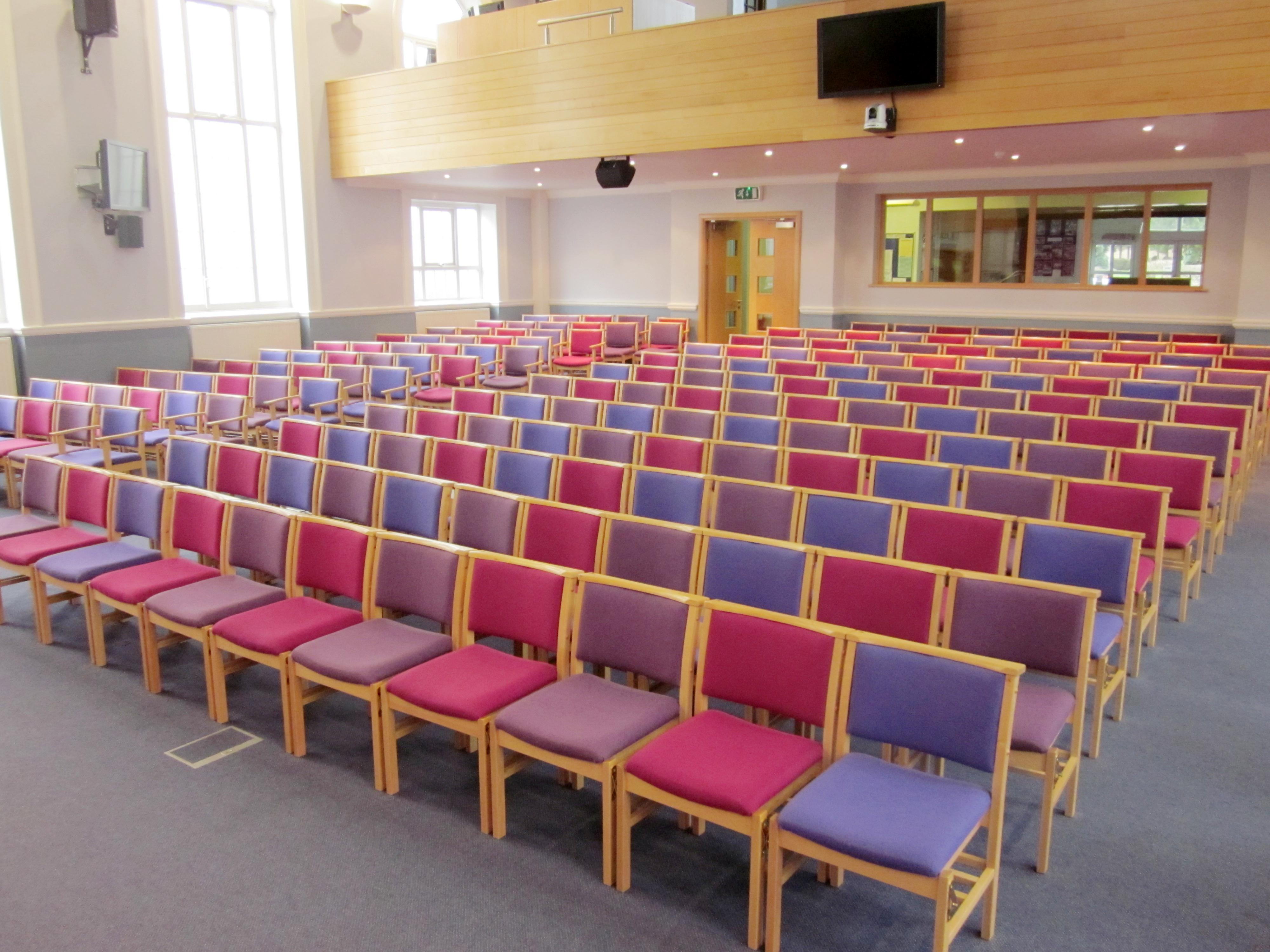 Comfortable wooden framed church chairs in Ash or Oak from Alpha Furnishing