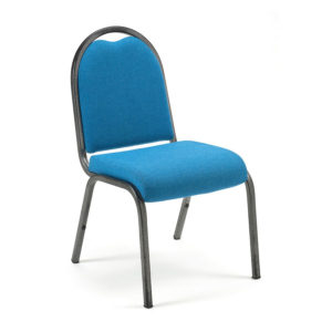 AR2BW Lightweight Stacking Chair with upholstered seat and back by Alpha Furnishing