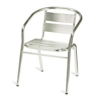 Outdoor Bistro Aluminium Stacking Cafe Armchair | Cafe Chairs | BCAA