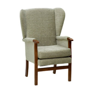 CORONATION Classic Styled High Back Wing Chair (Essentials Range) | Bedroom Chairs | BL1W