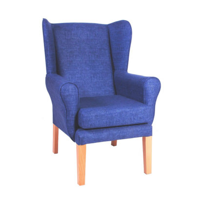 PRESTON Straight Legged High Back Wing Chair (Essentials Range)   Care Home Lounge Furniture   BL2W