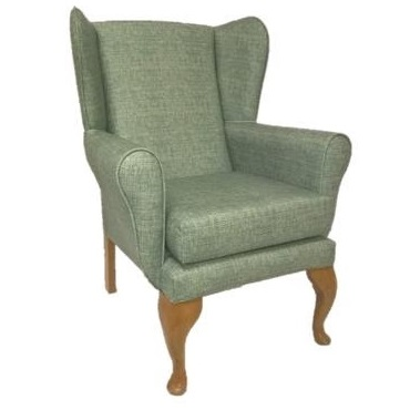 Queen Anne High Back Wing Chair | Bedroom Chairs | BL3W