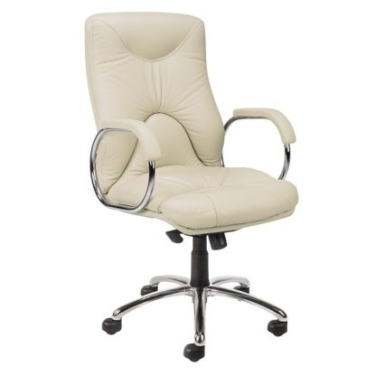 Office chair with 8+ hour mechanism - vinyl or fabric finish | Boardroom Seating | BR4L