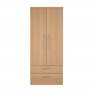 Coventry Range Gents Robe - Double Door and Two Drawers | Coventry Bedroom Range (10 Day Express Delivery) | BRBWGR