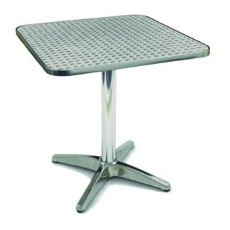 Outdoor Aluminium Bistro Cafe Table Square 700mm | Outdoor Tables | BTA2
