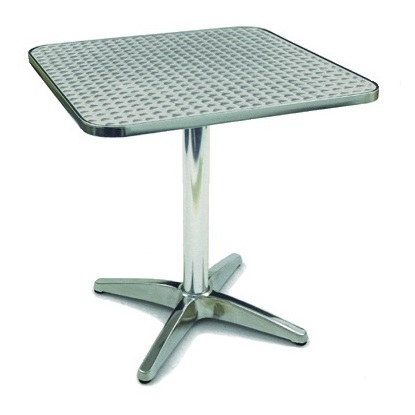 Outdoor Aluminium Bistro Cafe Table Square 700mm | Outdoor Tables | BTA3