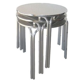 Stacking Outdoor Aluminium Bistro Cafe Table - Round 600mm | Outdoor Tables | BTAS01