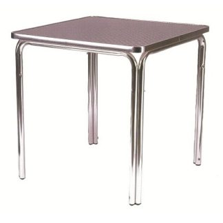 Stacking Outdoor Aluminium Bistro Cafe Table - Square 600mm | Outdoor Tables | BTAS2