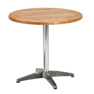 Oak Top Outdoor Pedestal Bistro Cafe Table - Round 600mm | Outdoor Tables | BTO