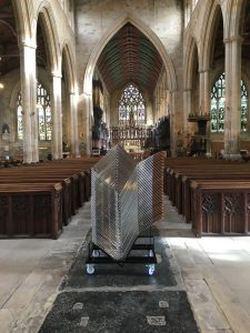 cathedral chair, gloucester stacking chair, stacking church chair, stacking plywood chair