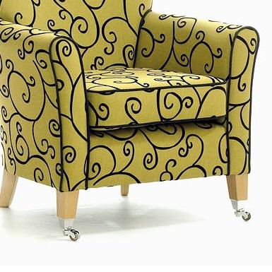MELBOURNE High Back Curve Chair - Yorkshire Range (Optional Castor leg) | High Back Care Chairs | SHARUHBWC