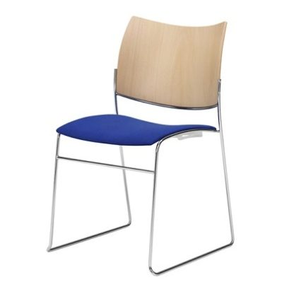 Canterbury Curvy Skid Base Stacking Contemporary Cathedral Chair | High Stacking Chairs | CSBS