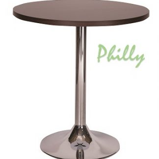 PHILLY Trumpet Base Cafe Table with Square or Round MFC Top | Cafe Tables | CT1