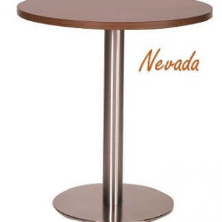 Steel Round Base Cafe Table with Square or Round MFC Top | Cafe Tables | CT3R