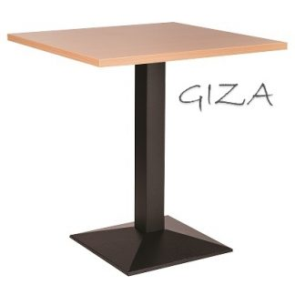 GIZA Pyramid Base Cafe Table with Square or Round MFC Top | Cafe Tables | CT4