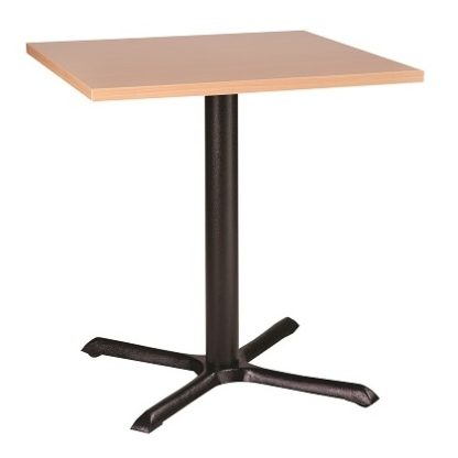 Cross Base Budget Cafe Table with Square or Round Top | Cafe Tables | CT6