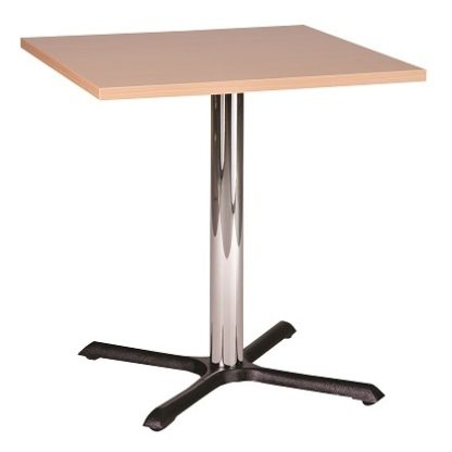 Cross Base Cafe Table with Square or Round MFC Top | Cafe Tables | CT6C