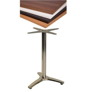 Lightweight Aluminium Tri-Base Cafe Table with Square or Round Top | Cafe Tables | CTV3