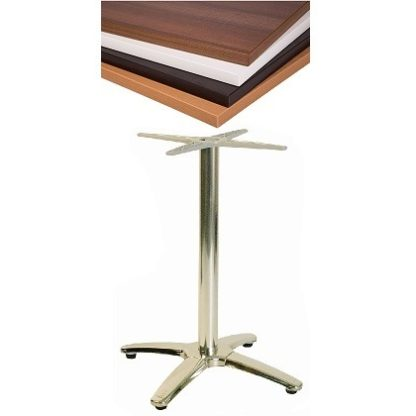 Lightweight Aluminium 4-Star Base Cafe Table with Square or Round Top | Cafe Tables | CTV4