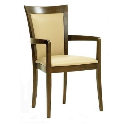 HAMBLETON Carver Chair with Wood Surround Upholstered Back (Yorkshire Range) | Dining Chairs | DC5A