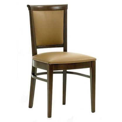 CLEVELAND Side Chair with Curved Upholstered Back (Yorkshire Range) | Dining Chairs | DC6