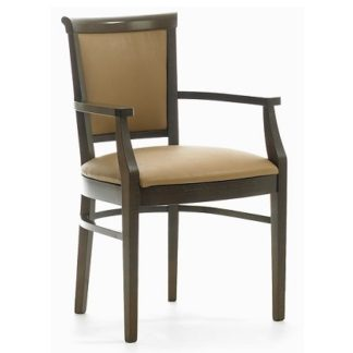 CLEVELAND Carver Chair with Curved Upholstered Back (Yorkshire Range) | Dining Chairs | DC6A
