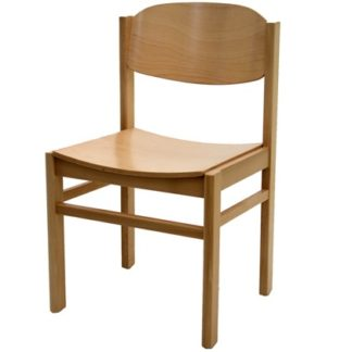 Non Stacking All Wood Chapel and Church Chair | Wooden Church Chairs | E4