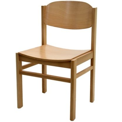 Non Stacking All Wood Chapel and Church Chair | Library Chairs | E4