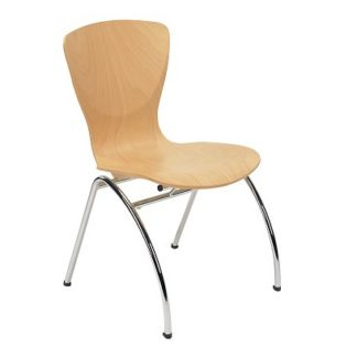 Café/Dining Wood and Chrome Finish Chair | Cafe Chairs | EBINC