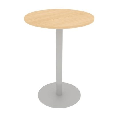 Circular Centre Pedestal Poser Meeting Table 1100mm High - 600mm/800mm/1000mm MFC Finish | Meeting Tables | EBOBC
