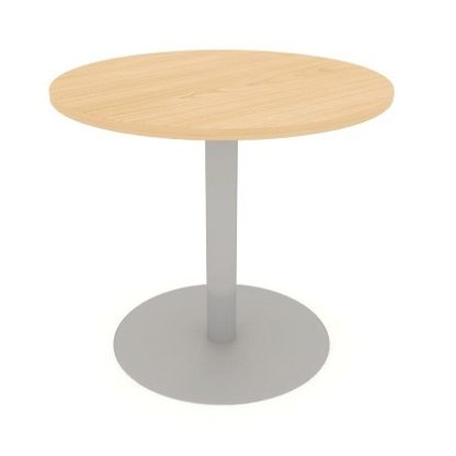 Circular Centre Pedestal Meeting Table 600mm/800mm/1000mm MFC Finish   Meeting Tables   EBOMC