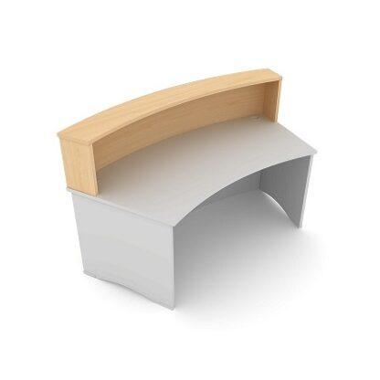 Radius Reception Desk. Double Counter Top 1800mm Wide. MFC Finish. | Reception Desking | EDCT