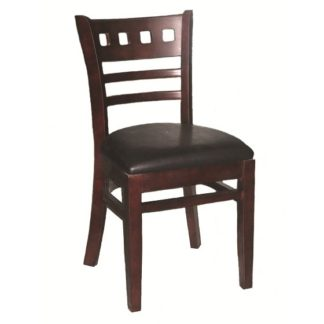 Cafe/Dining Solid Wood Chair With Vinyl Seat Pad | Cafe Chairs | EDE2