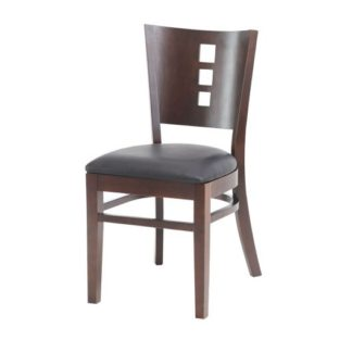 Cafe/Dining Solid Wood Chair With Vinyl Seat Pad | Cafe Chairs | EDE3
