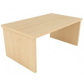Rectangular Coffee Table with Panel Ends MFC or Veneer Finish | Community Coffee Tables | ERCT