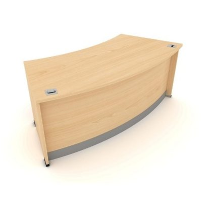 Radius Reception Desk. 1900mm Wide. MFC Finish   Reception Desking   ERR