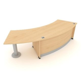 Radius Reception Desk. 1900mm Wide. MFC Finish | Reception Desking | ERRRH