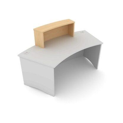 Radius Reception Desk. Single Counter Top 980mm Wide. MFC Finish. | Reception Desking | ESCT