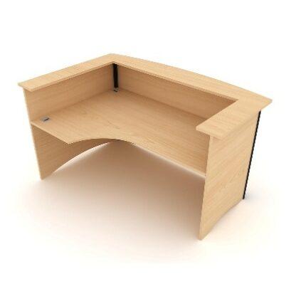 Bow Fronted Reception Desk Left Hand Facing.1800mm Wide. MFC Finish.   Reception Desking   EWRULH