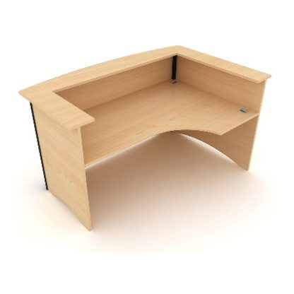 Bow Fronted Reception Desk Right Hand Facing. 1800mm Wide. MFC Finish.   Reception Desking   EWRURH